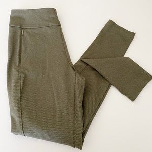 T by Talbots legging Olive fitted pants
